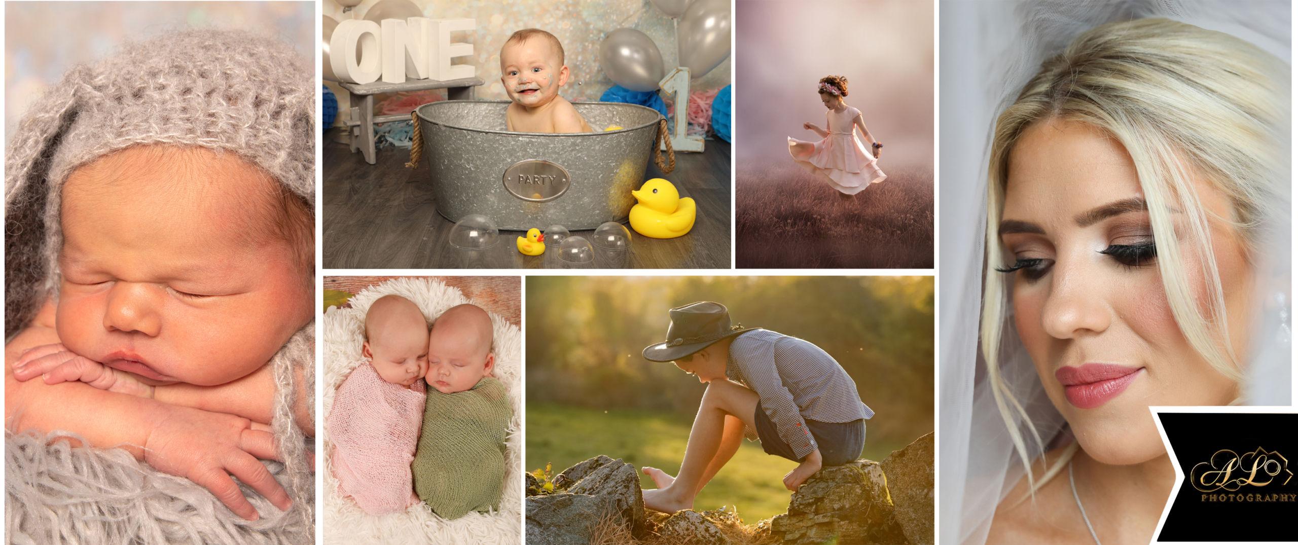 Collage of photoshoot