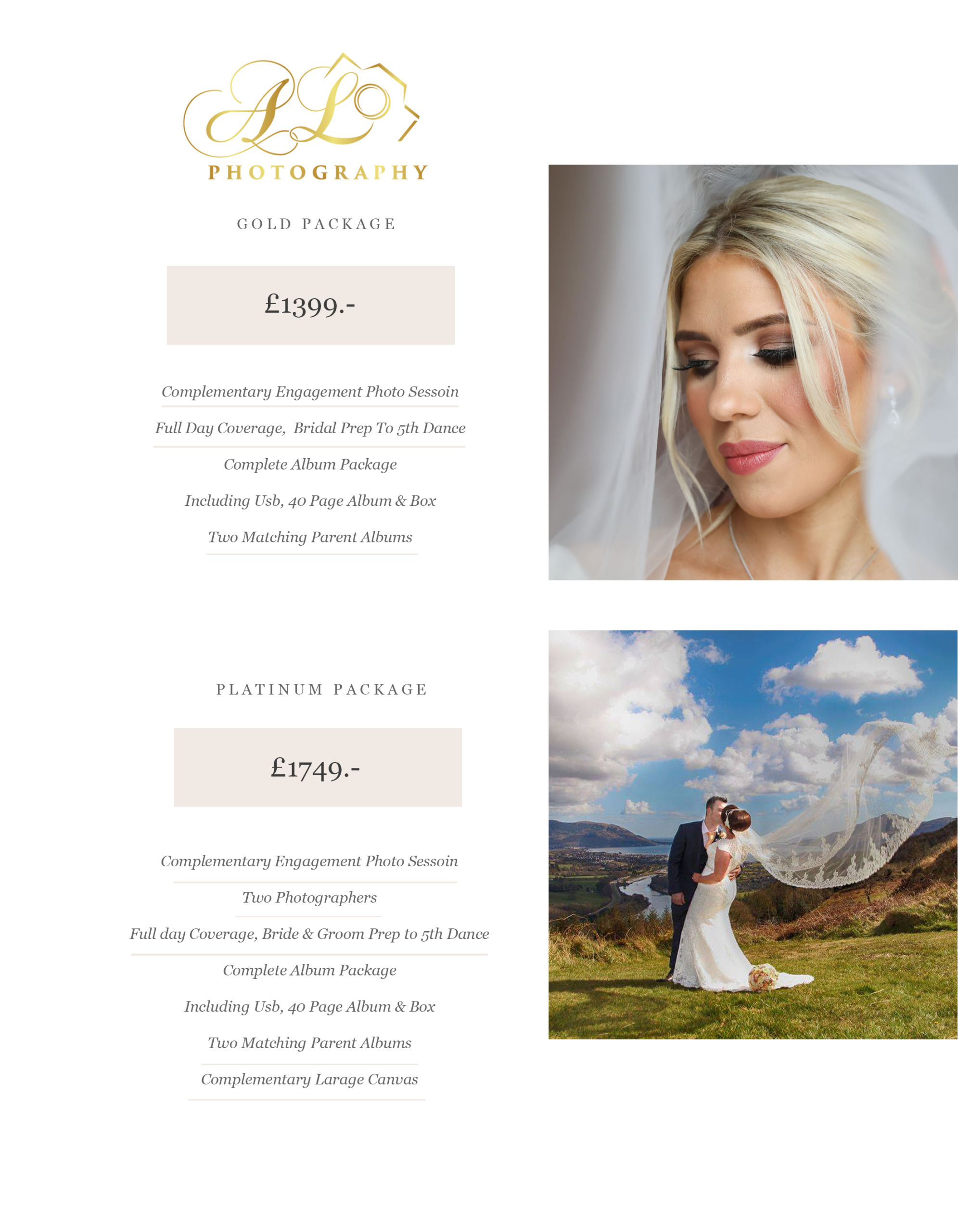 Wedding Photography With AL Photography Ireland & Northern Ireland