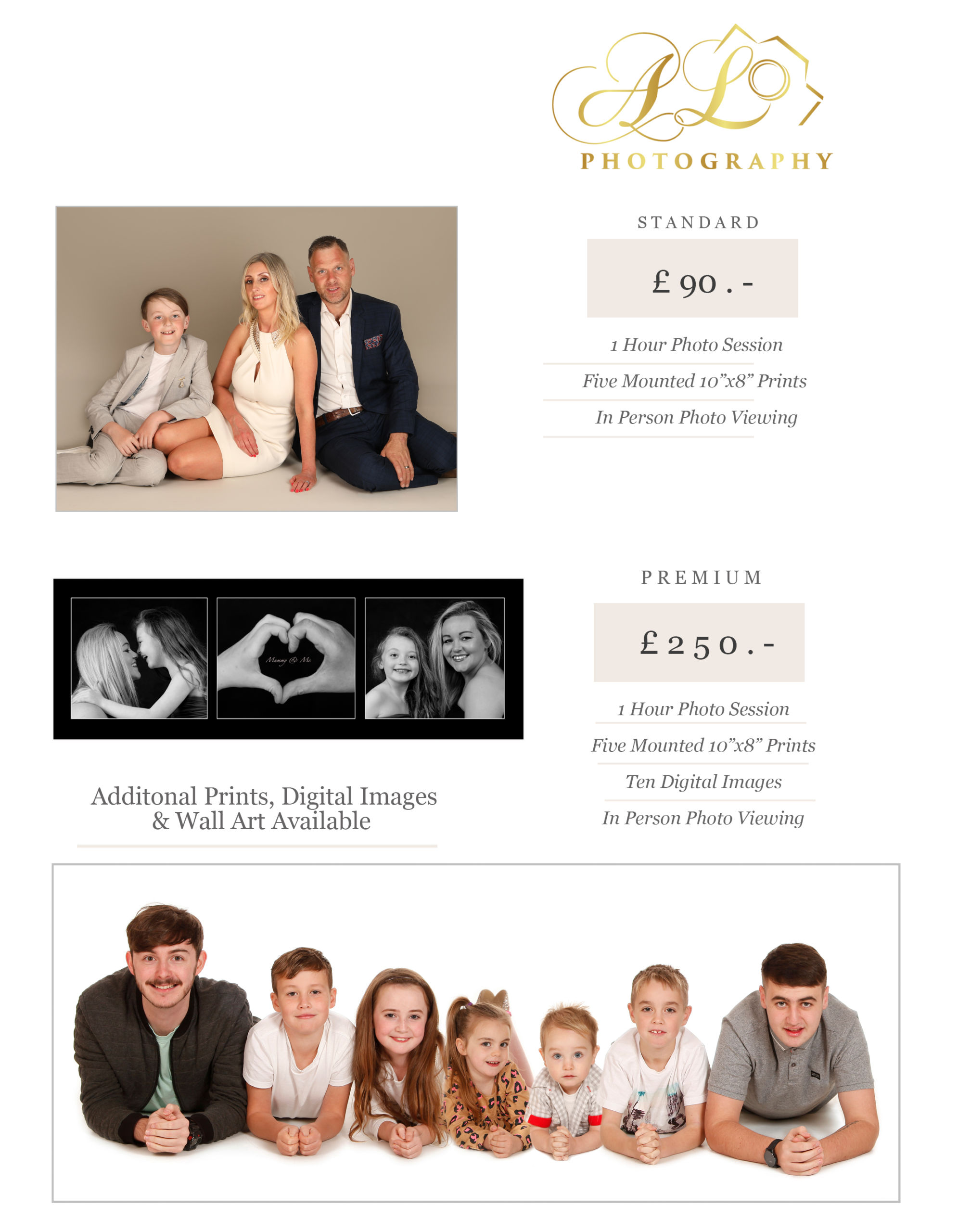family photography pricing